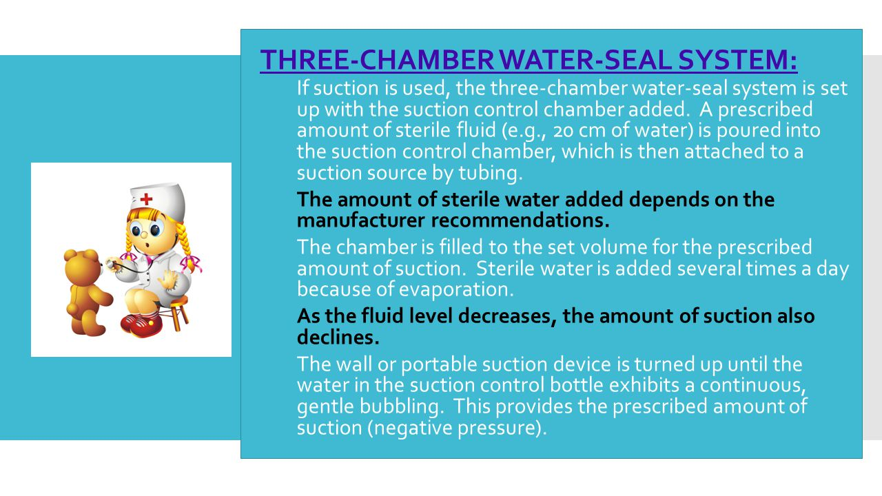 THREE-CHAMBER WATER-SEAL SYSTEM: