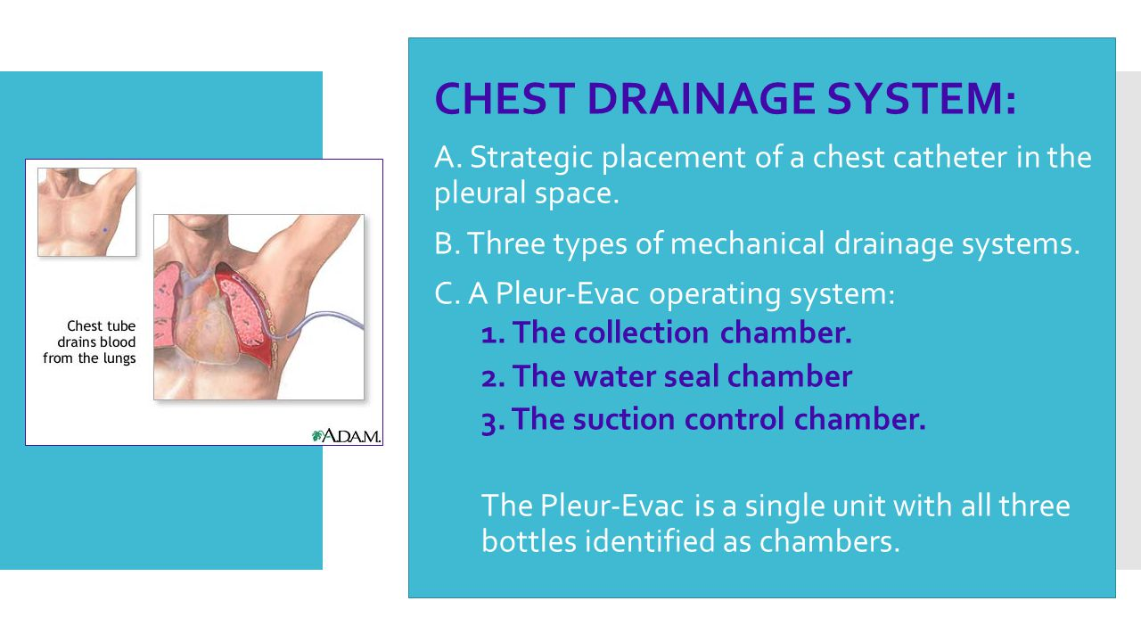 CHEST DRAINAGE SYSTEM: