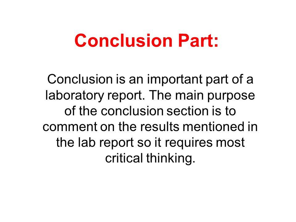 Conclusion Part: