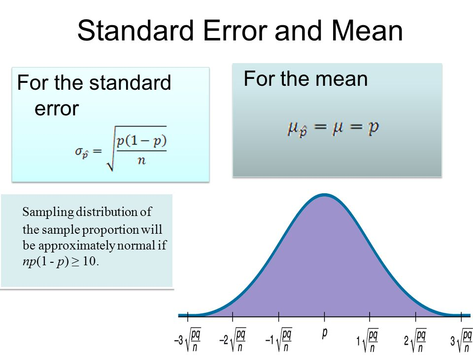 Standard Error and Mean