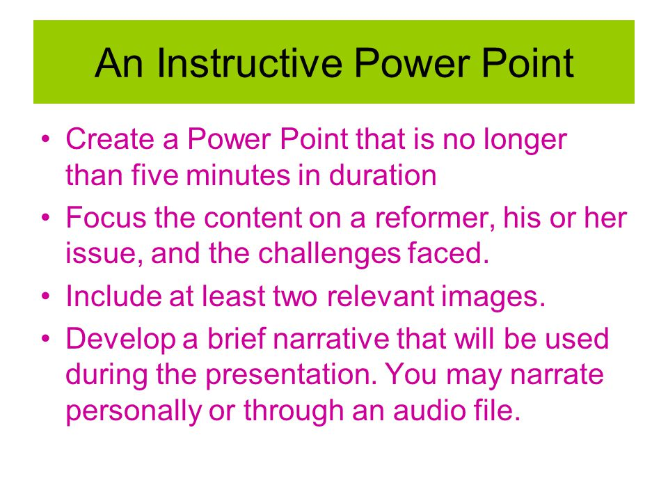 An Instructive Power Point