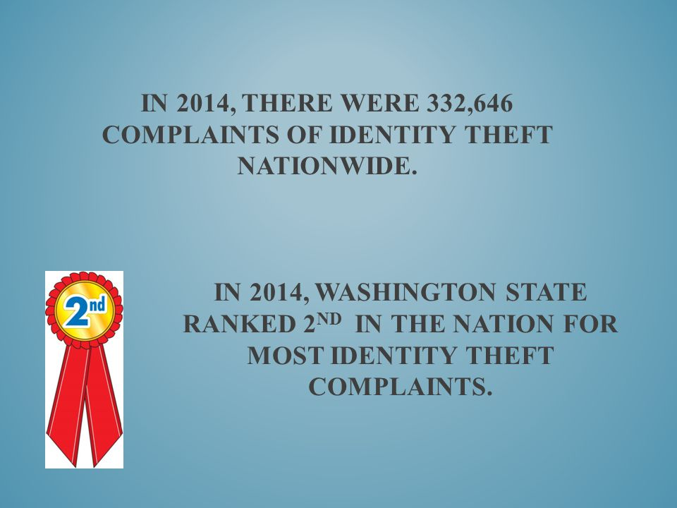 In 2014, there were 332,646 complaints of identity theft nationwide.