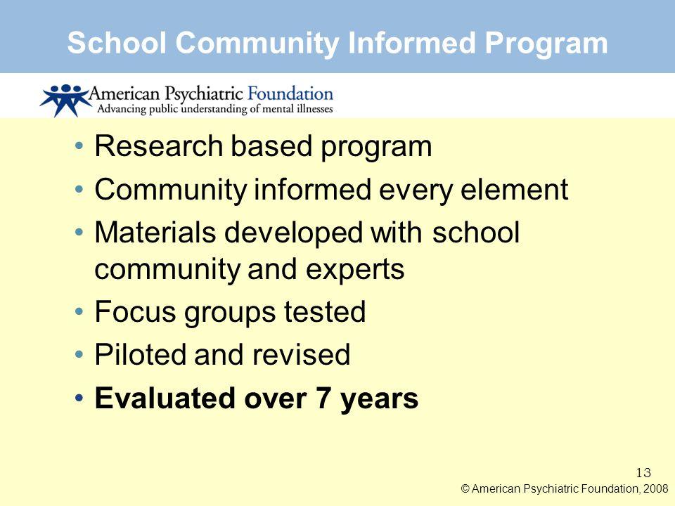 School Community Informed Program