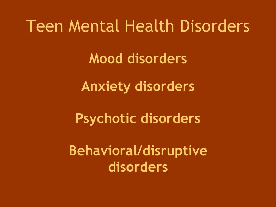 Teen Mental Health Disorders