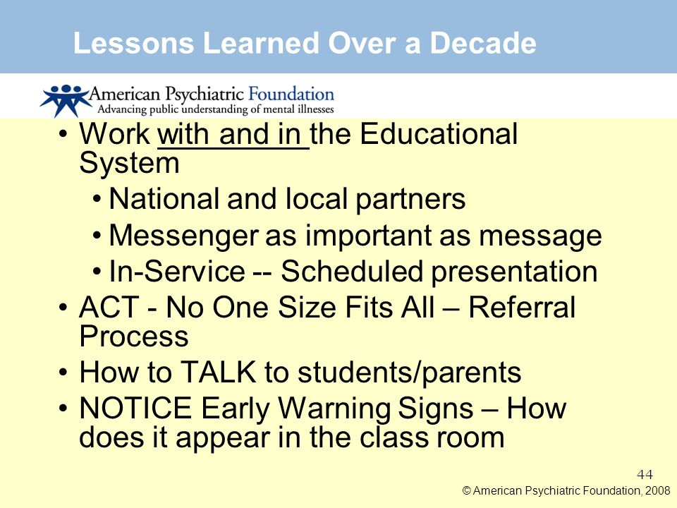 Lessons Learned Over a Decade