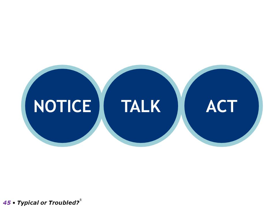 NOTICE TALK ACT 45 • Typical or Troubled ®