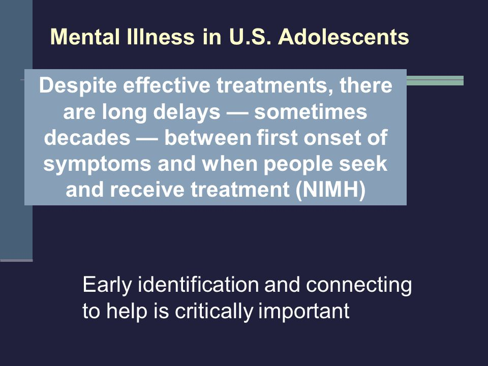 Mental Illness in U.S. Adolescents