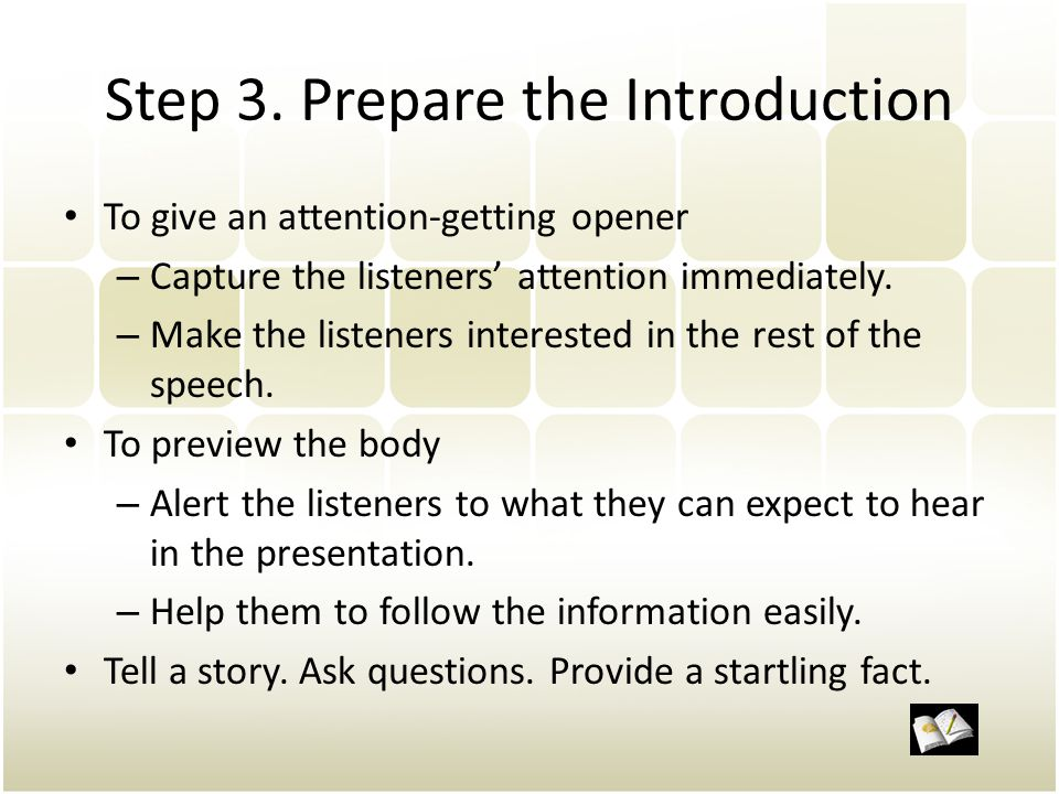 Step 3. Prepare the Introduction