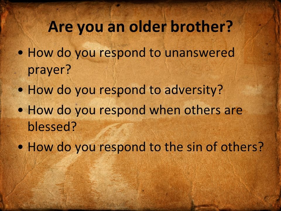 Are you an older brother