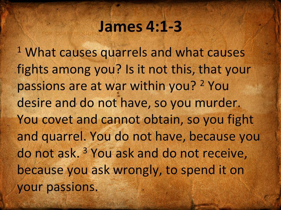 James 4:1-3