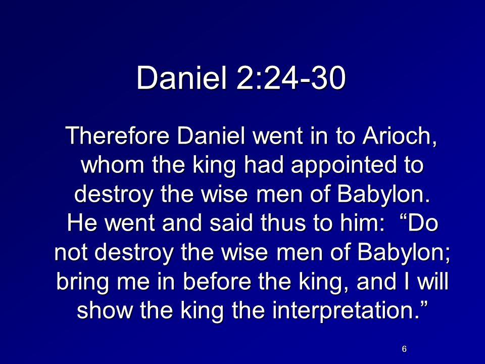 Daniel 2:24-30