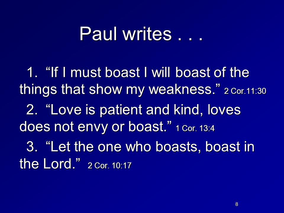 Paul writes . . .