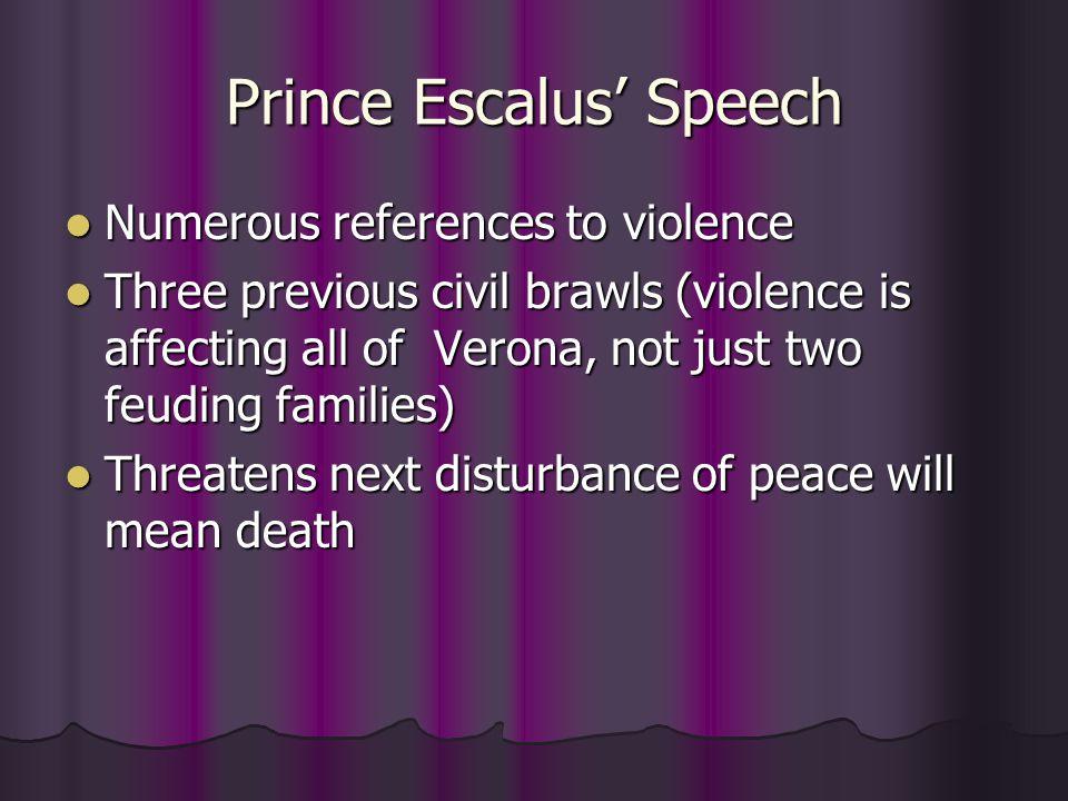 Prince Escalus' Speech