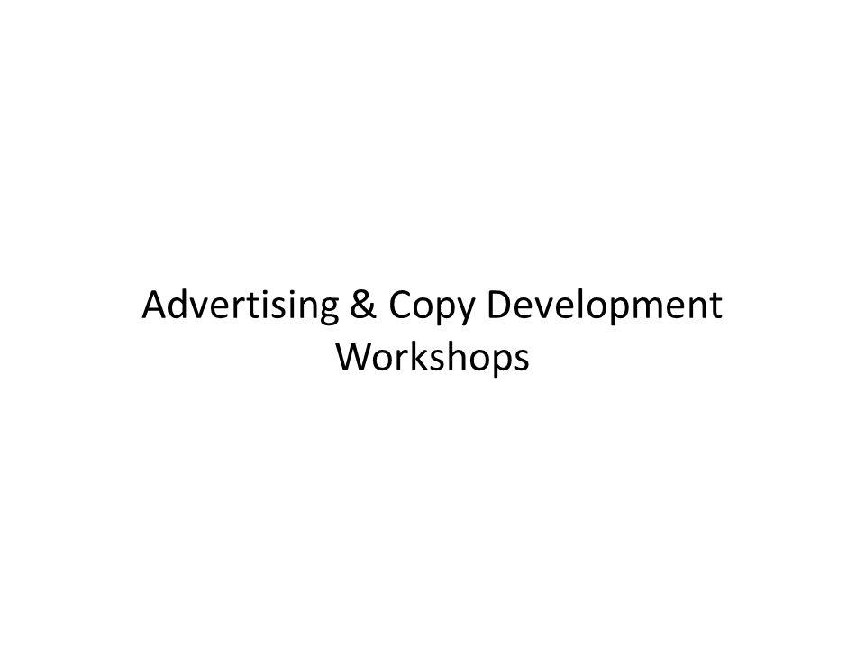 Advertising & Copy Development Workshops
