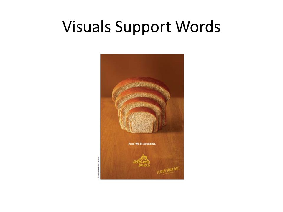 Visuals Support Words