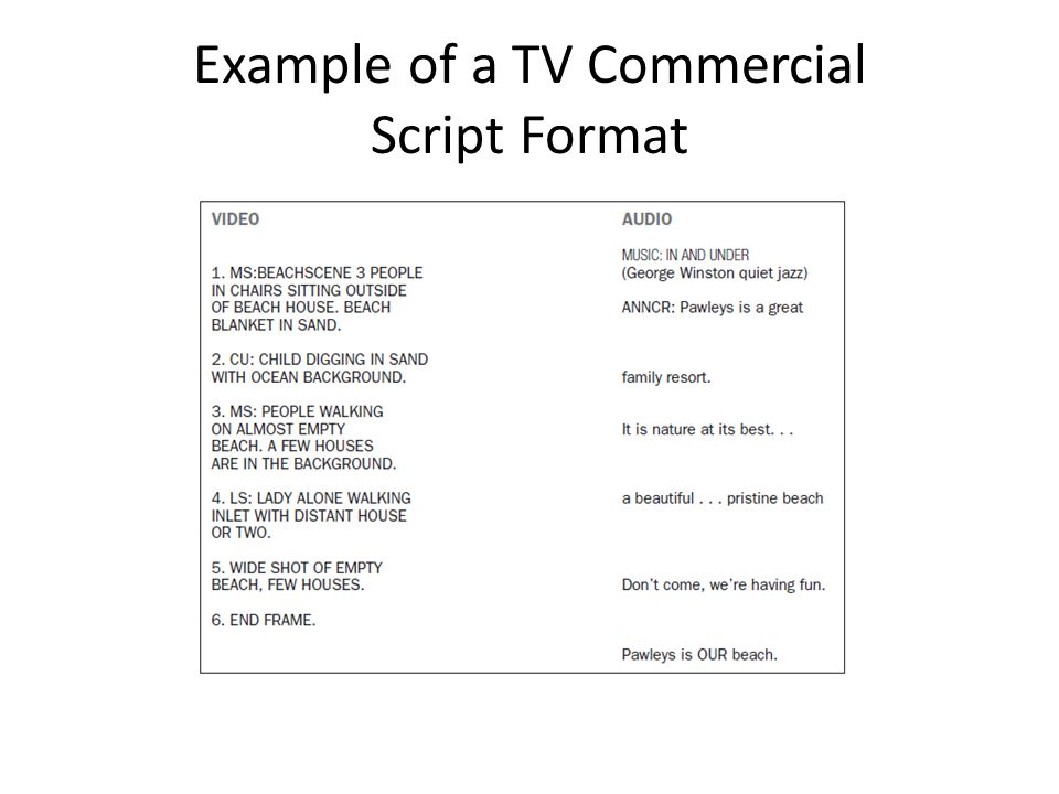 tv commercial script template - advertising copy development workshops ppt video