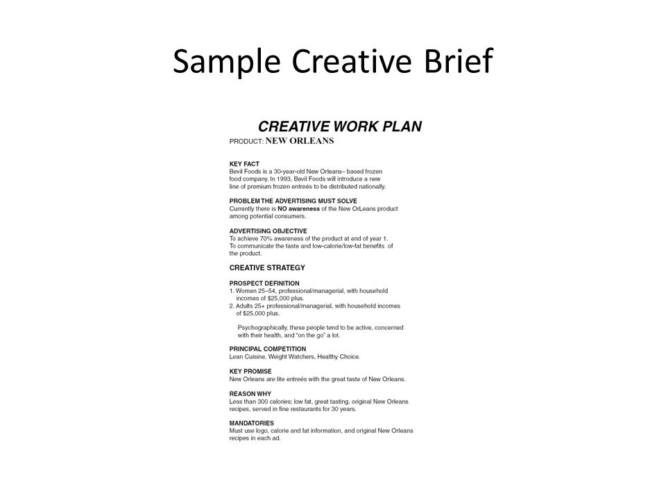 Advertising copy development workshops ppt video for Copy brief template