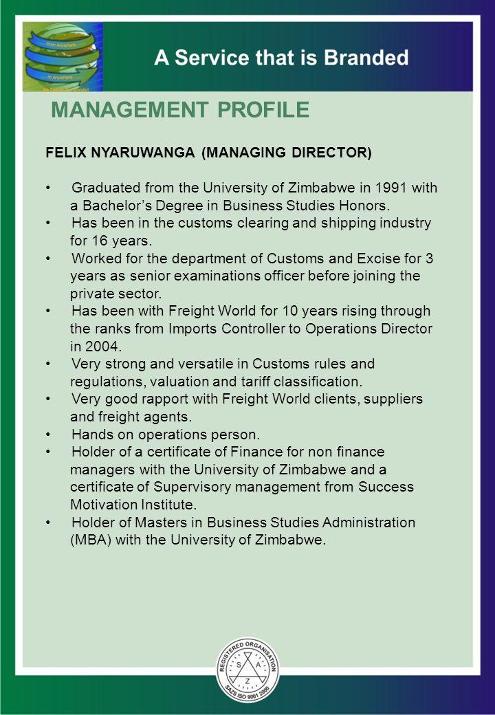 FELIX NYARUWANGA (MANAGING DIRECTOR)