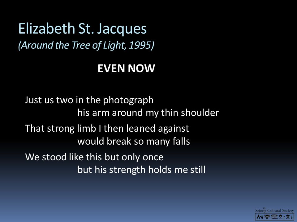 Elizabeth St. Jacques (Around the Tree of Light, 1995)