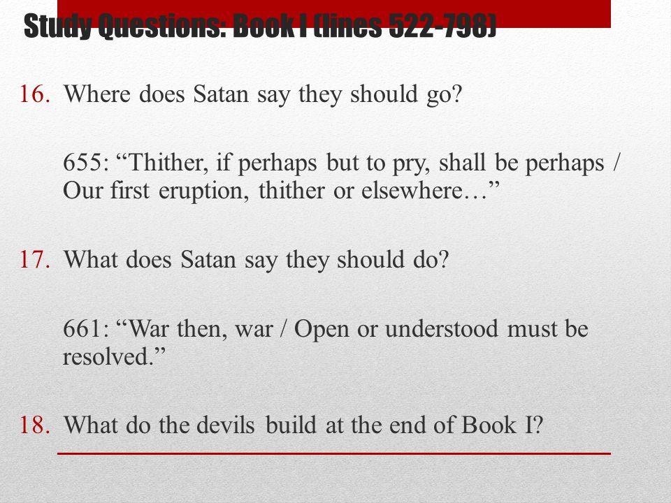 Study Questions: Book I (lines 522-798)