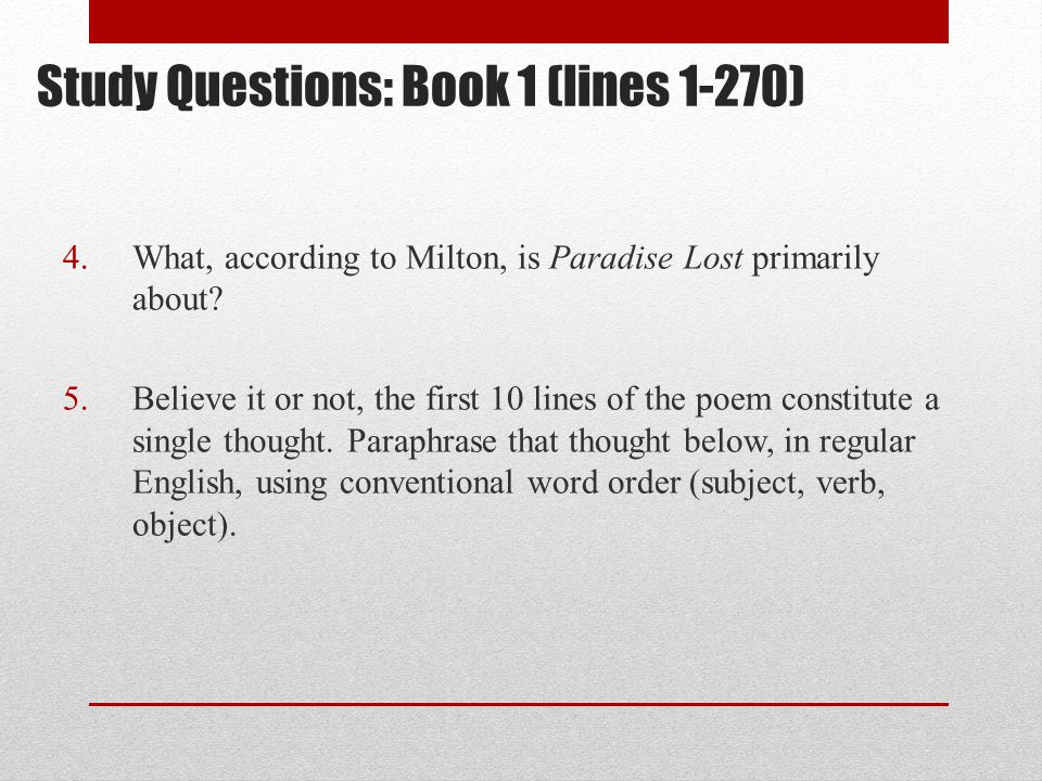 Study Questions: Book 1 (lines 1-270)