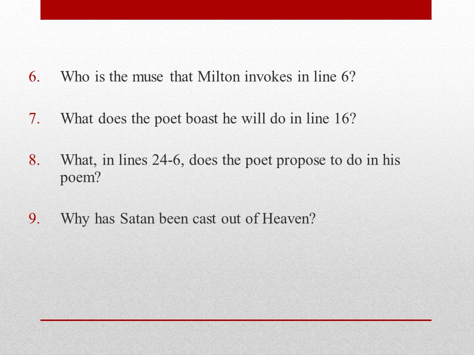 Who is the muse that Milton invokes in line 6
