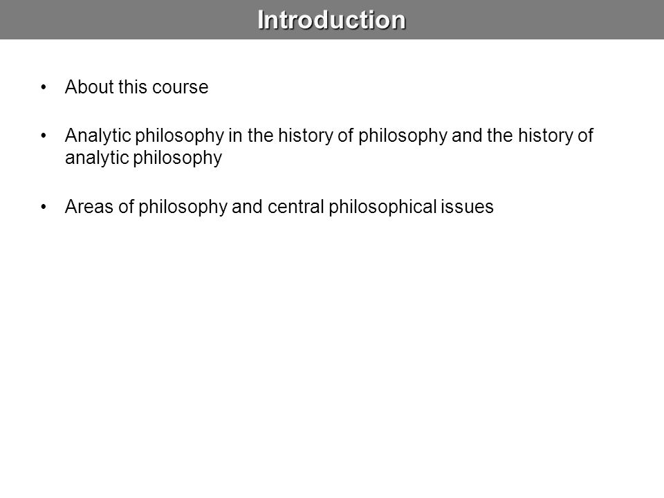 Introduction About this course