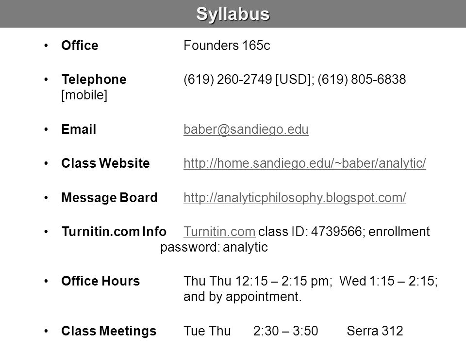 Syllabus Office Founders 165c
