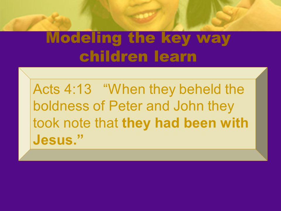 Modeling the key way children learn