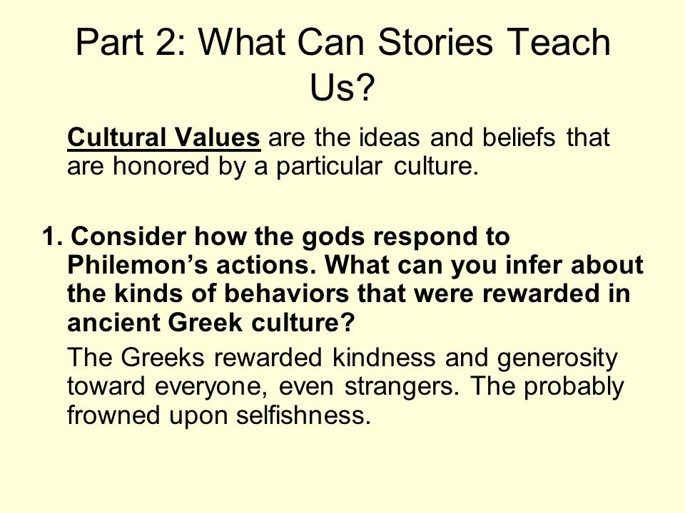 Part 2: What Can Stories Teach Us