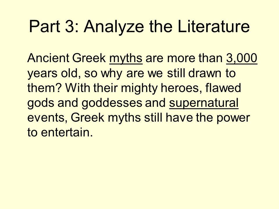 Part 3: Analyze the Literature