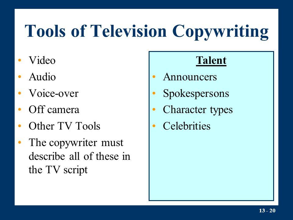 Tools of Television Copywriting