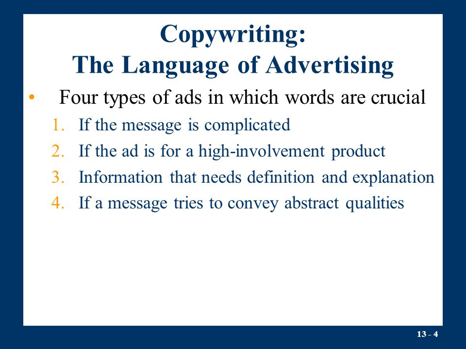Copywriting: The Language of Advertising