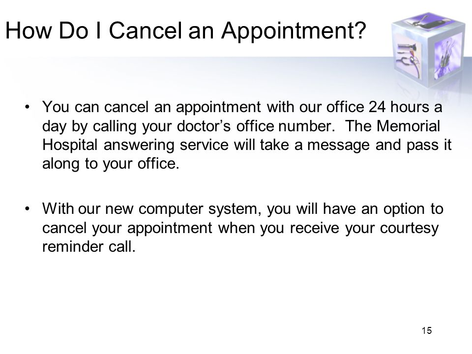 How Do I Cancel an Appointment