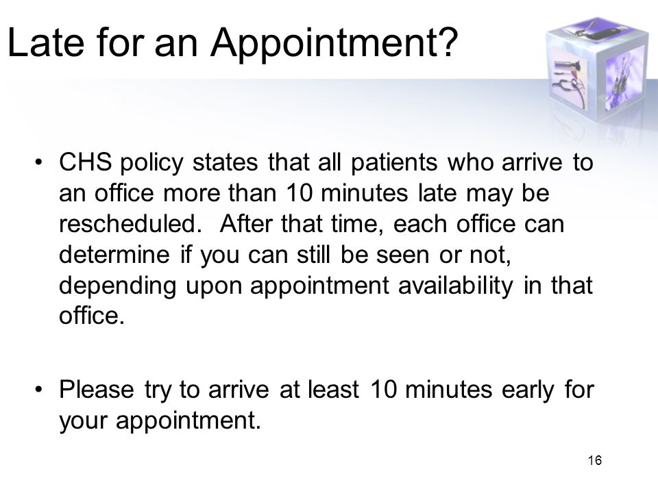Late for an Appointment