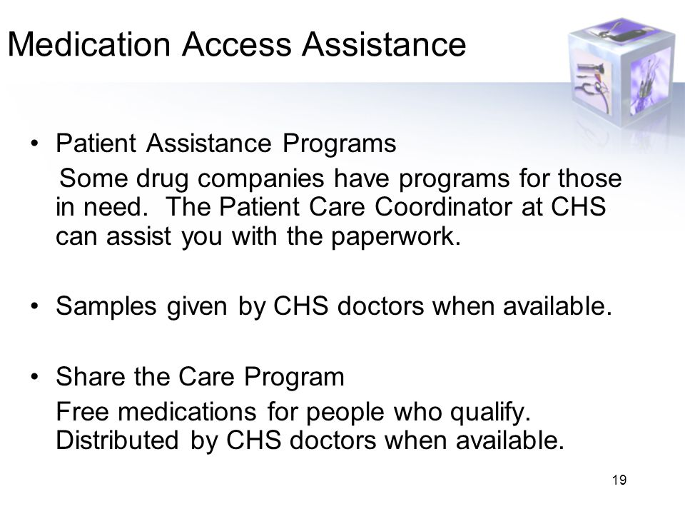 Medication Access Assistance