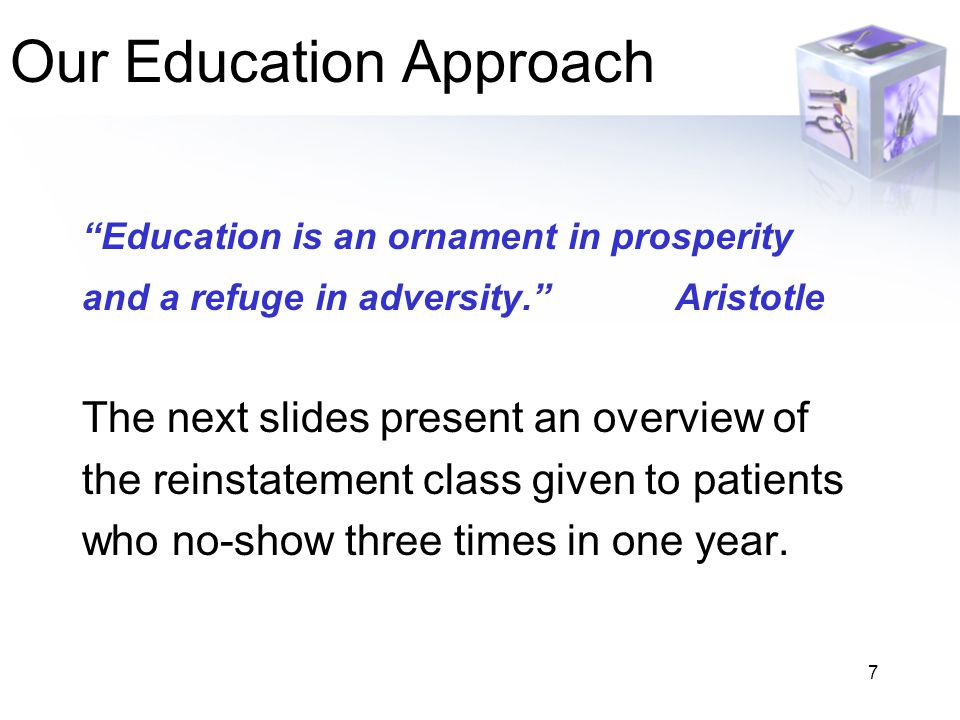 Our Education Approach