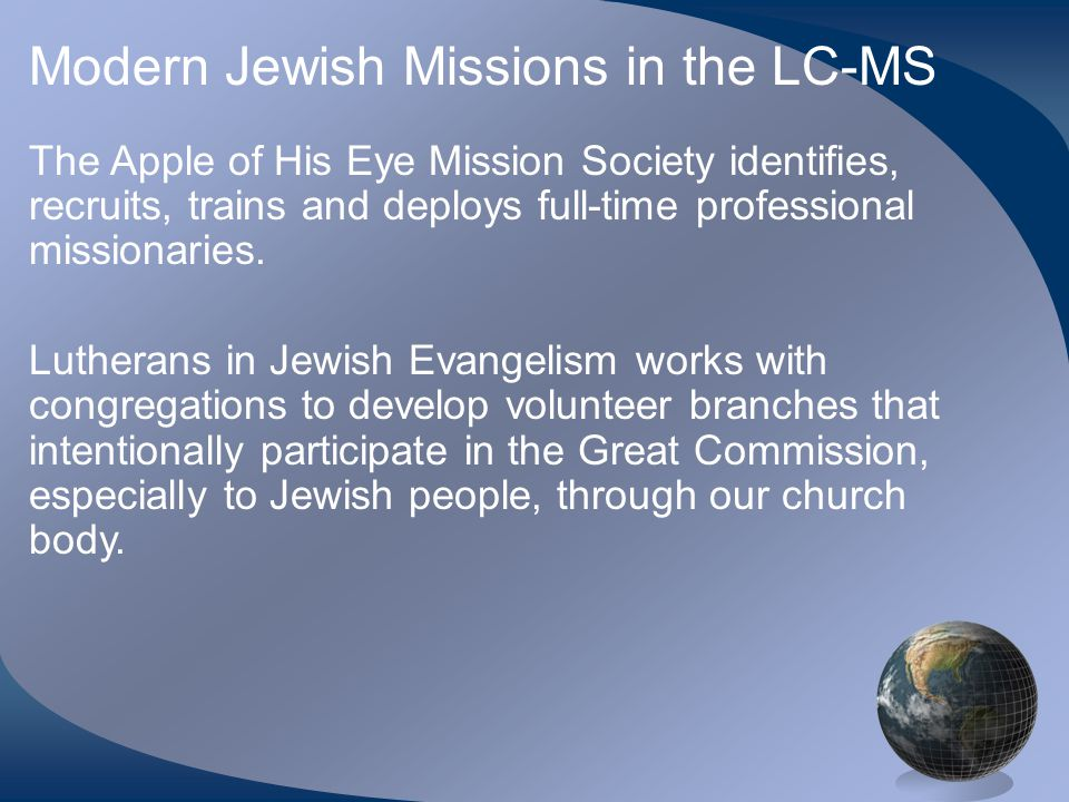 Modern Jewish Missions in the LC-MS