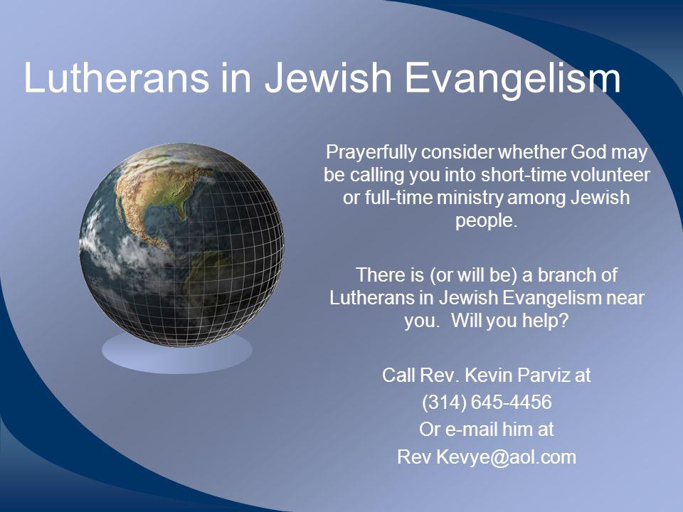 Lutherans in Jewish Evangelism