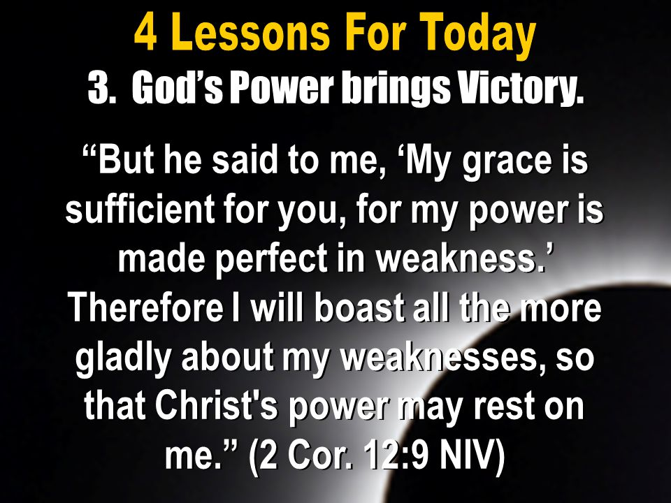 3. God's Power brings Victory.