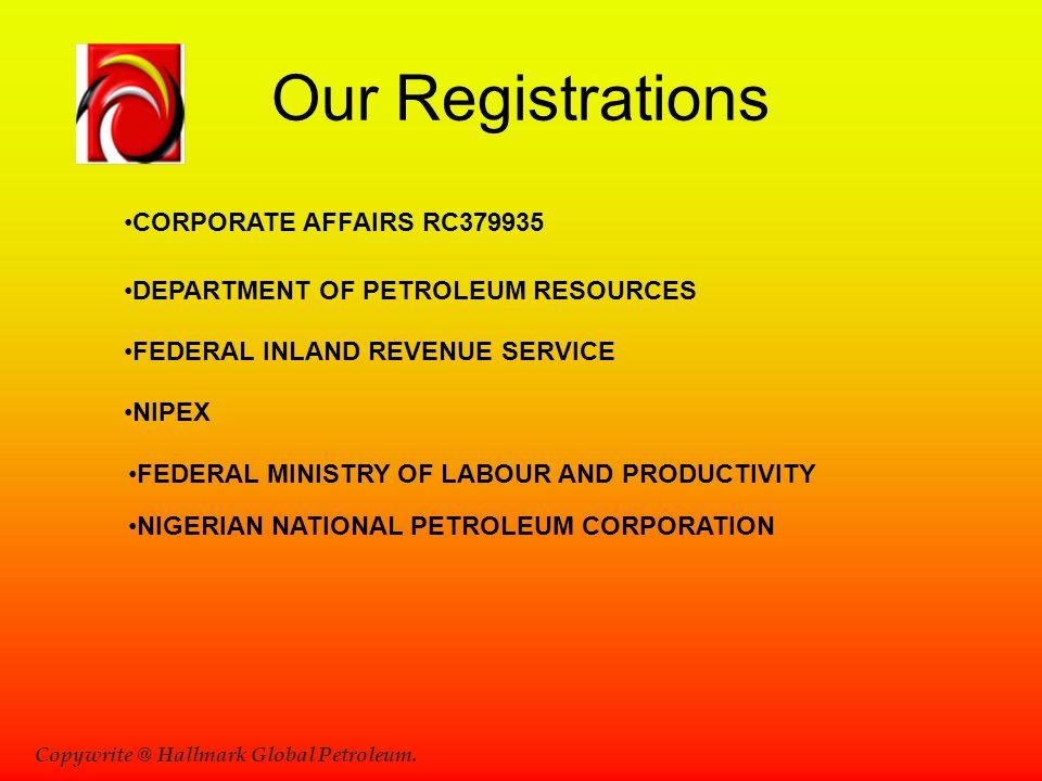 Copywrite @ Hallmark Global Petroleum.
