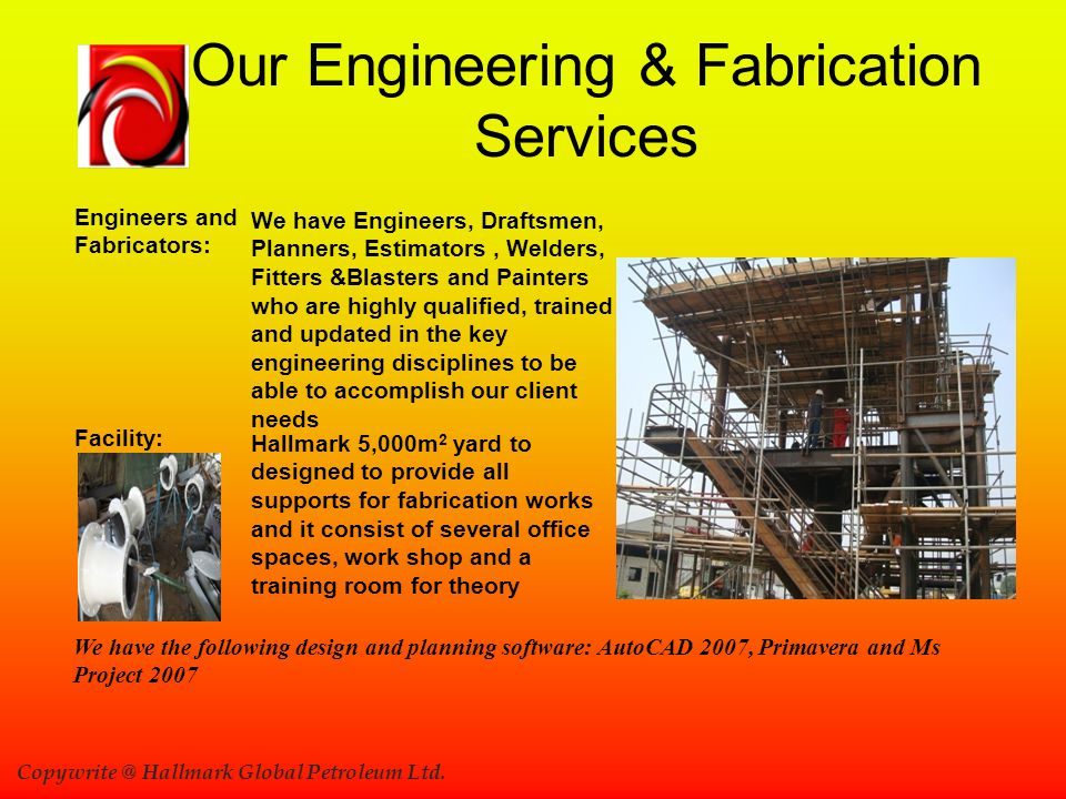 Our Engineering & Fabrication Services