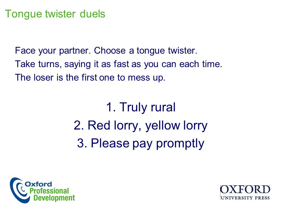 1. Truly rural 2. Red lorry, yellow lorry 3. Please pay promptly
