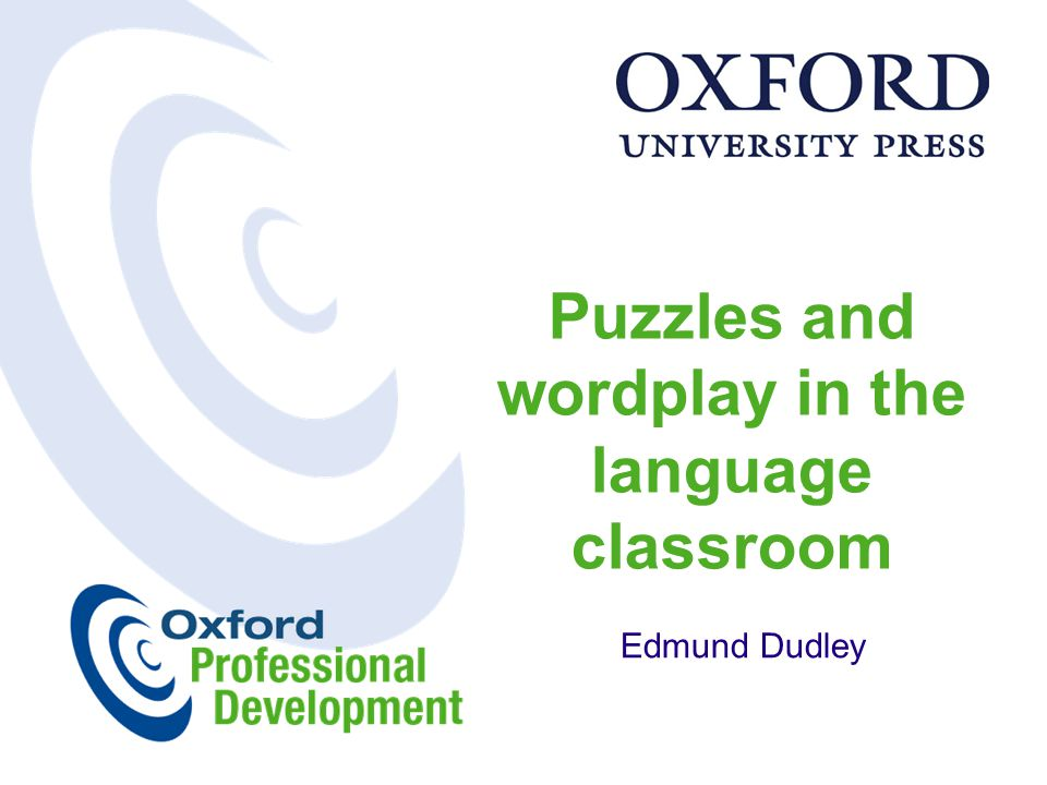 Puzzles and wordplay in the language classroom