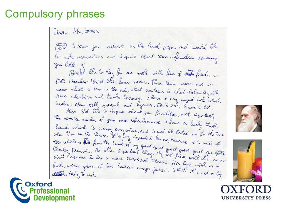 Compulsory phrases