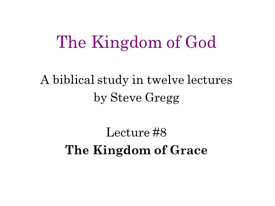 A biblical study in twelve lectures
