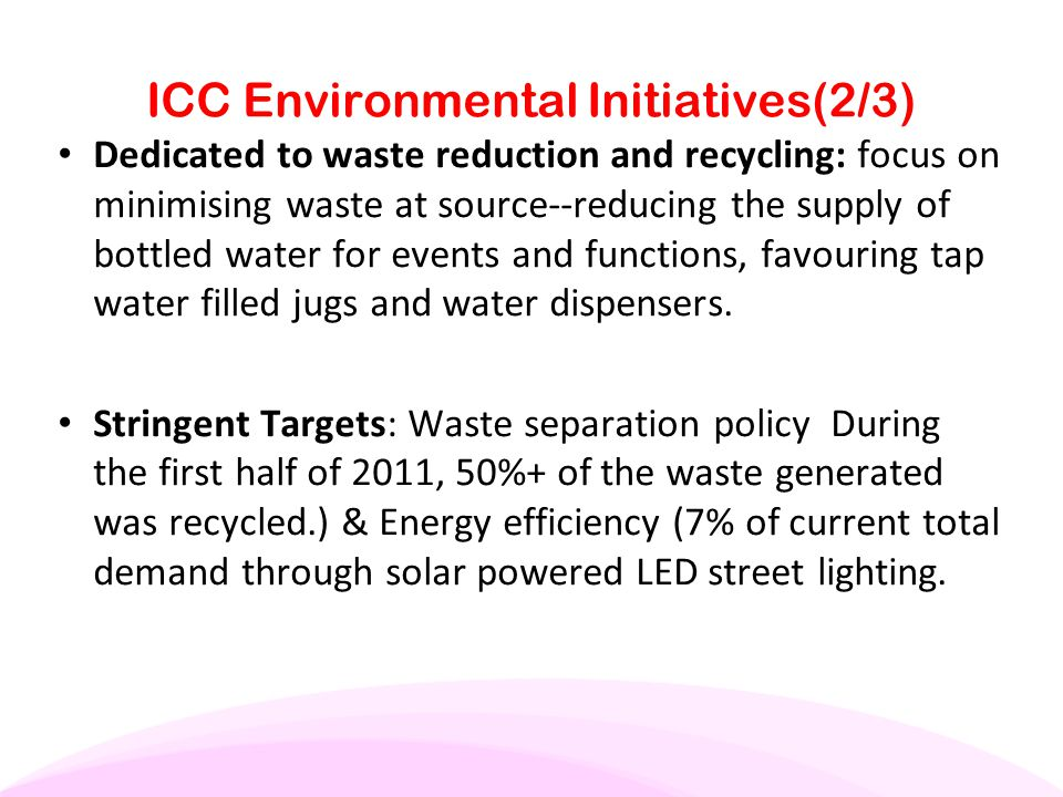 ICC Environmental Initiatives(2/3)