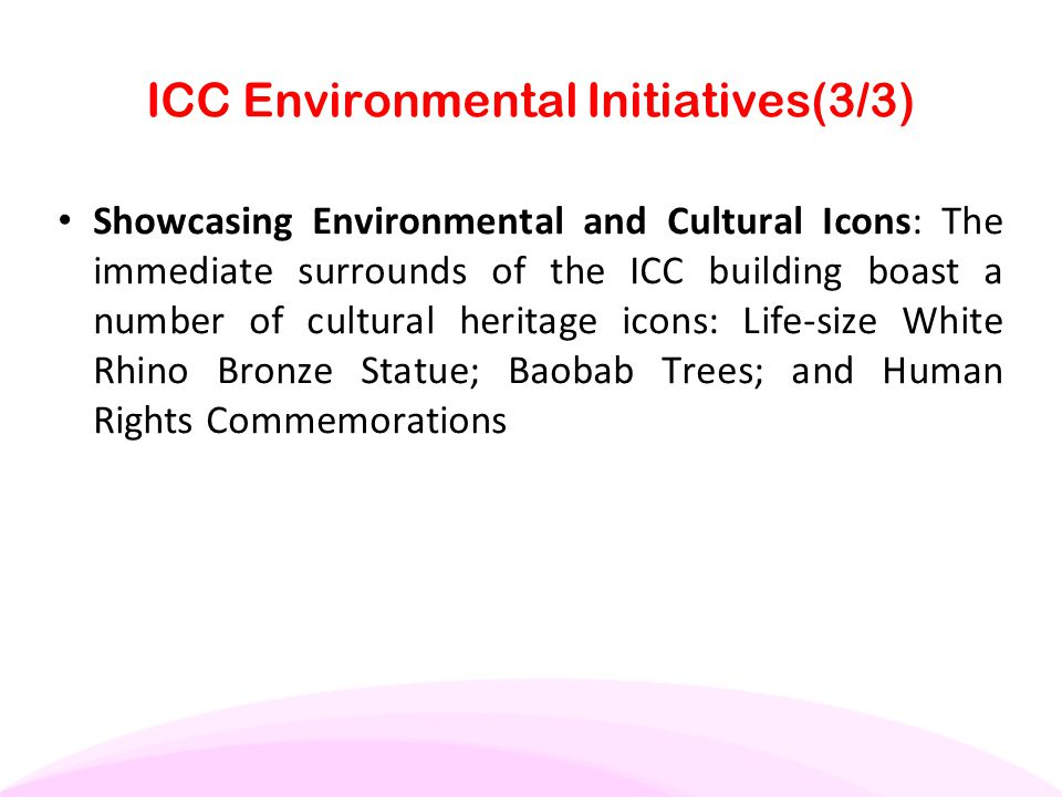 ICC Environmental Initiatives(3/3)
