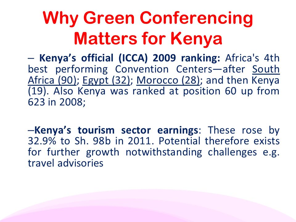 Why Green Conferencing Matters for Kenya