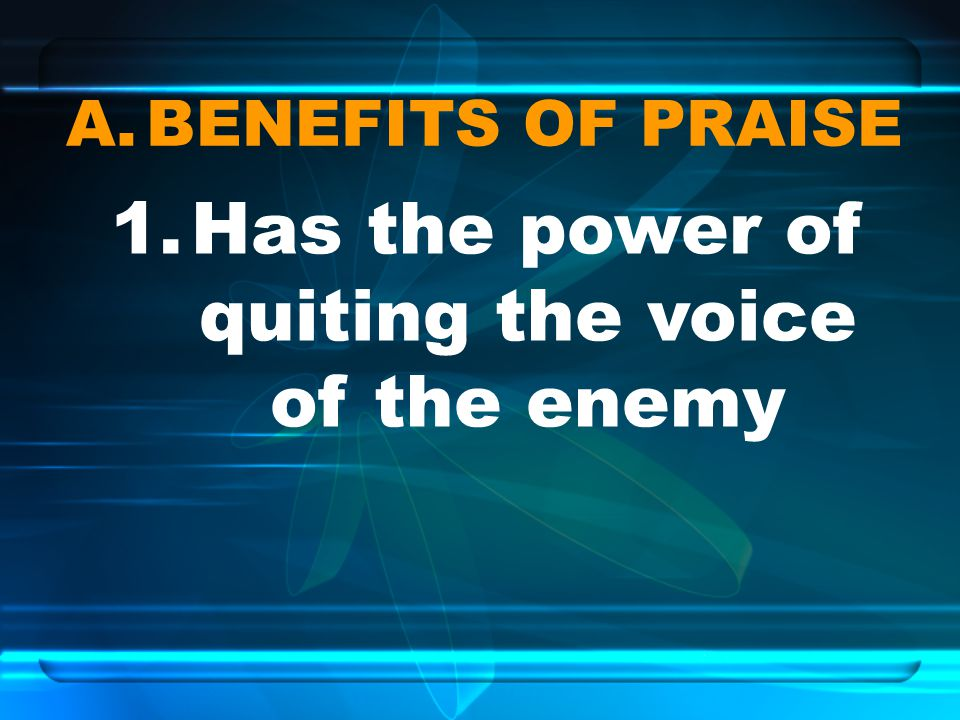 Has the power of quiting the voice of the enemy
